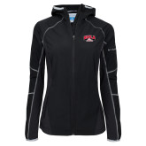 Columbia Ladies Sweet As Black Hooded Jacket-Official Athletics Logo