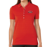 Ladies Callaway Opti Vent Red Polo-Official Logo