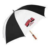 62 Inch Black/White Umbrella-Official Athletics Logo