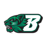 Medium Decal-Bearcat Head w/ B, 8 inches wide