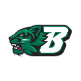 Small Decal-Bearcat Head w/ B, 6 inches wide