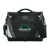 Slope Black/Grey Compu Messenger Bag-Binghamton University Bearcats Official Logo