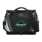 Slope Black/Grey Compu Messenger Bag-Binghamton University Bearcats Official Logo