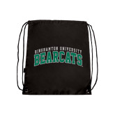 Black Drawstring Backpack-Arched Binghamton University Bearcats