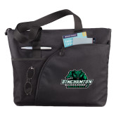 Excel Black Sport Utility Tote-Binghamton University Bearcats Official Logo
