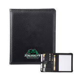 Carbon Fiber Tech Padfolio-Binghamton University Bearcats Official Logo