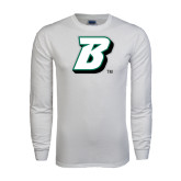 White Long Sleeve T Shirt-B