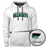 Contemporary Sofspun White Hoodie-Arched Binghamton University Bearcats