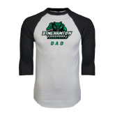 White/Black Raglan Baseball T-Shirt-Dad