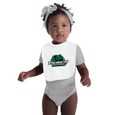 White Baby Bib-Binghamton University Bearcats Official Logo
