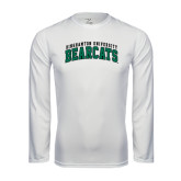 Syntrel Performance White Longsleeve Shirt-Arched Binghamton University Bearcats