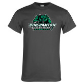 Charcoal T Shirt-Binghamton University Bearcats Official Logo