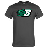 Charcoal T Shirt-Bearcat Head w/ B