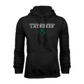 Black Fleece Hoodie-Lacrosse Stacked Design