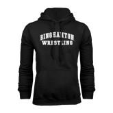Black Fleece Hoodie-Arched Wrestling Design