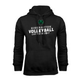Black Fleece Hood-Can You Dig It - Volleyball Design