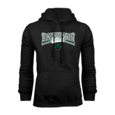 Black Fleece Hood-Softball Crossed Bats Design