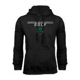 Black Fleece Hoodie-Golf Stacked Design