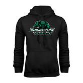 Black Fleece Hoodie-Binghamton University Bearcats Official Logo