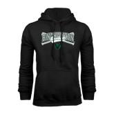 Black Fleece Hoodie-Crossed Bats Baseball Design