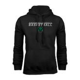Black Fleece Hood-Basketball Stacked Design
