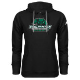 Adidas Climawarm Black Team Issue Hoodie-Binghamton University Bearcats Official Logo