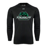 Under Armour Black Long Sleeve Tech Tee-Binghamton University Bearcats Official Logo