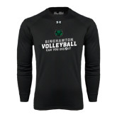 Under Armour Black Long Sleeve Tech Tee-Can You Dig It - Volleyball Design