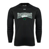 Under Armour Black Long Sleeve Tech Tee-Softball Crossed Bats Design