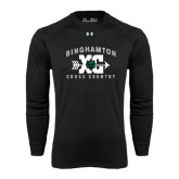 Under Armour Black Long Sleeve Tech Tee-Arched Cross Country XC Design