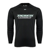 Under Armour Black Long Sleeve Tech Tee-Wrestling