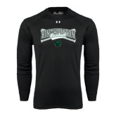 Under Armour Black Long Sleeve Tech Tee-Crossed Bats Baseball Design