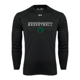 Under Armour Black Long Sleeve Tech Tee-Basketball Stacked Design