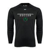 Under Armour Black Long Sleeve Tech Tee-Soccer Stacked Design