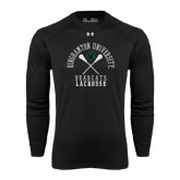 Under Armour Black Long Sleeve Tech Tee-Lacrosse Crossed Sticks Design