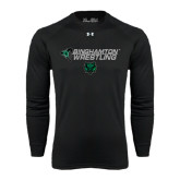Under Armour Black Long Sleeve Tech Tee-Wrestling Helmet Design