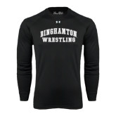 Under Armour Black Long Sleeve Tech Tee-Arched Wrestling Design