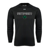 Under Armour Black Long Sleeve Tech Tee-Volleyball Stacked Design