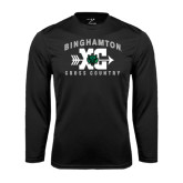 Performance Black Longsleeve Shirt-Arched Cross Country XC Design
