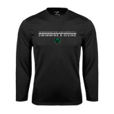 Performance Black Longsleeve Shirt-Swim and Dive Stacked Design