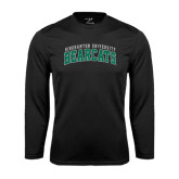 Performance Black Longsleeve Shirt-Arched Binghamton University Bearcats