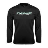 Syntrel Performance Black Longsleeve Shirt-Binghamton University Flat