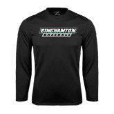 Performance Black Longsleeve Shirt-Baseball