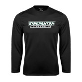 Performance Black Longsleeve Shirt-Wrestling