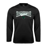 Syntrel Performance Black Longsleeve Shirt-Crossed Bats Baseball Design