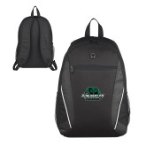 Atlas Black Computer Backpack-Binghamton University Bearcats Official Logo