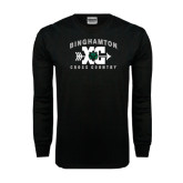 Black Long Sleeve TShirt-Arched Cross Country XC Design
