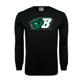 Black Long Sleeve TShirt-Bearcat Head w/ B