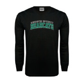 Black Long Sleeve TShirt-Arched Binghamton University Bearcats