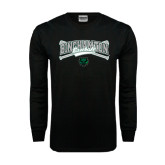 Black Long Sleeve TShirt-Crossed Bats Baseball Design
